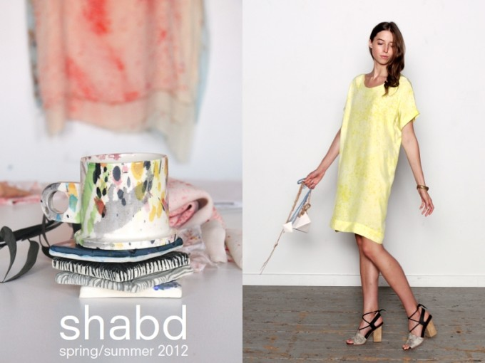 Shabd tie dye clothing design new york label spring summer 2012 collection