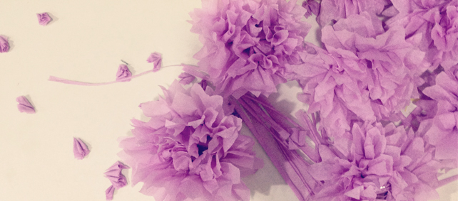crepe flower purple
