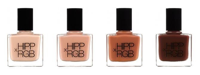 HIPPxRGB nail tint bottles nude