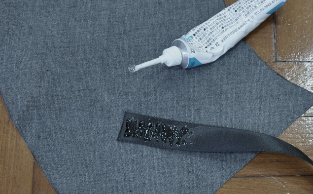glue ribbon 2 - how to make leather peplum belt tutorial