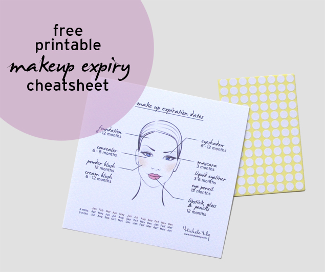 free printable make up expiry date cheat sheet guide