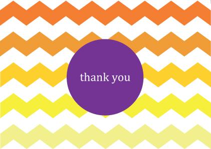 download free printable thank you card sunny chevron