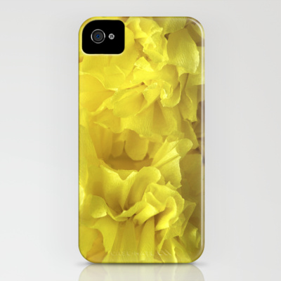 iphone 4 case crepe flower yellow society6