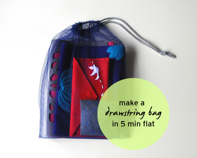 A tulle drawstring bag in 5 min flat