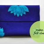 how to make a felt clutch tutorial