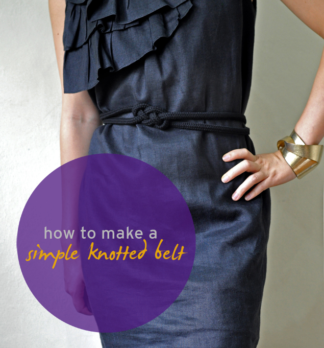 DIY tutorial on how to make a simple knotted belt