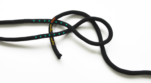 DIY tutorial on how to make a simple knotted belt 4