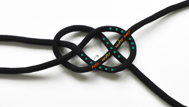 DIY tutorial on how to make a simple knotted belt 5