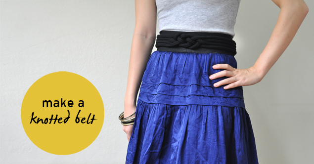 tutorial on how to make a knotted belt DIY