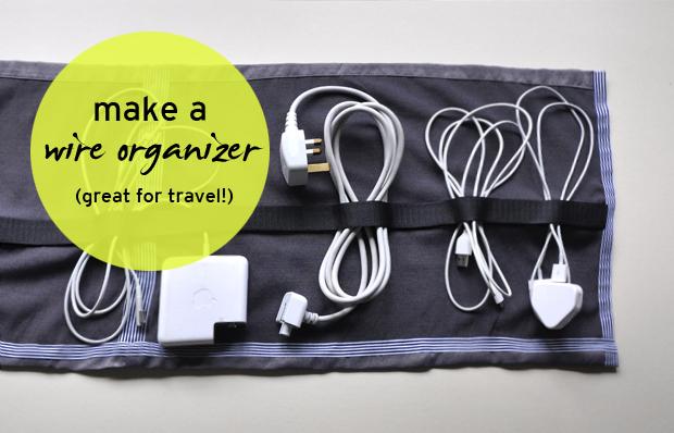 wire organizer DIY tutorial