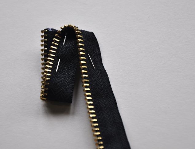 zipper necklace tutorial 5