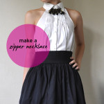 zipper necklace diy tutorial