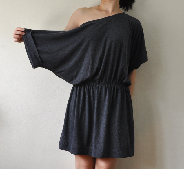 DIY toga dress refashion tutorial 2