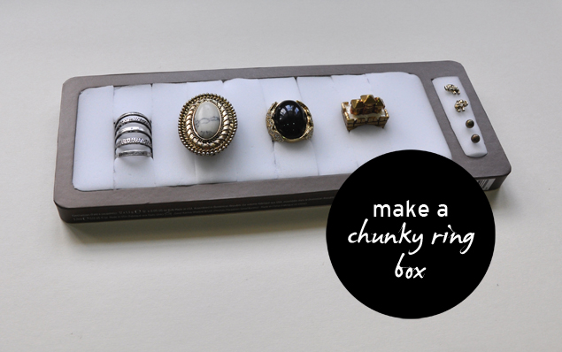 make a chunky ring box DIY tutorial