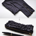 DIY leggings into pouch pencil case