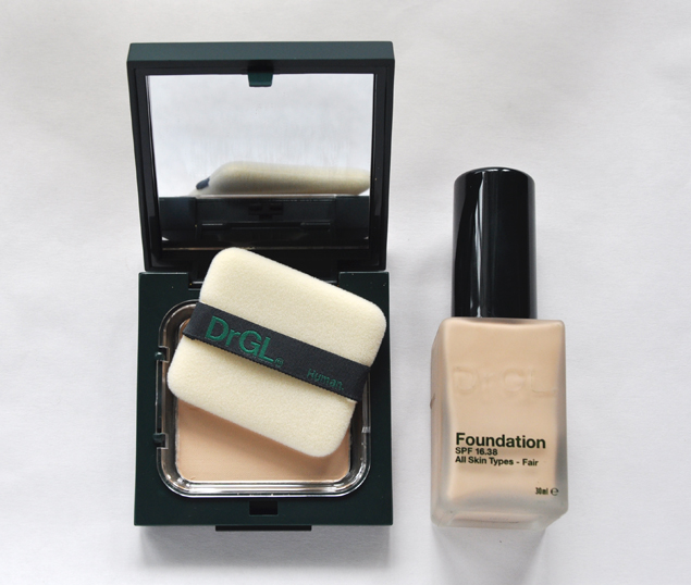 Dr GL foundation and pressed powder review