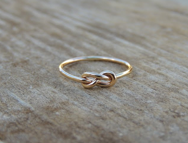 TreasureImports Infinity Knot Ring Etsy