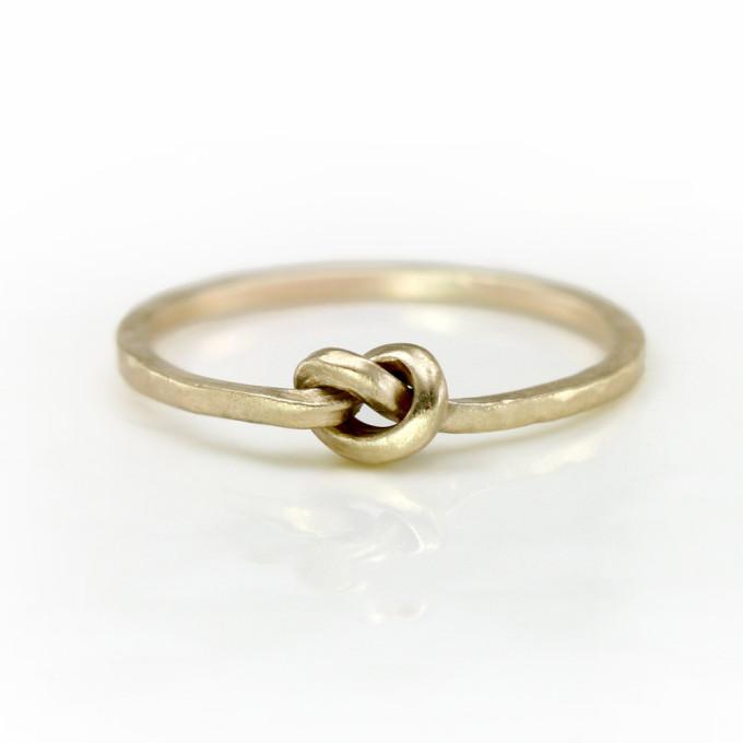 ScarlettJewelry gold knot ring