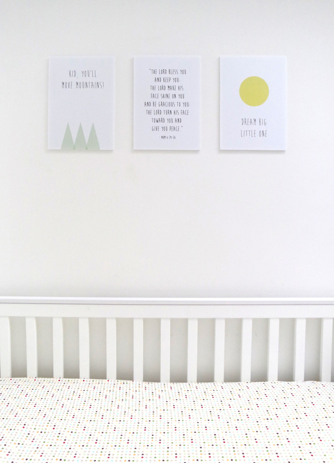cheap and easy nursery decor