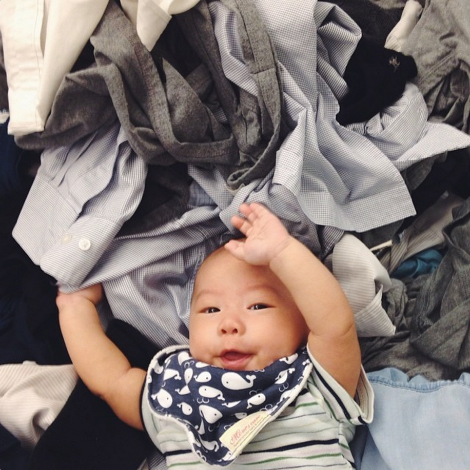 baby z and laundry